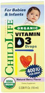 Vitamin D3 Childlife hữu cơ organic 400IU dạng nước 10ml