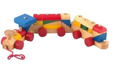 Đồ chơi gỗ xếp hình tàu hỏa
