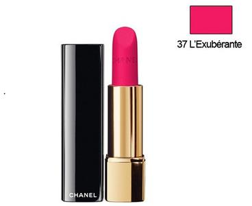 Son Chanel Rouge Allure Velvet 37 L'exuberante hồng tươi
