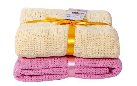 Chăn lưới Cotton xuất Nga cho bé (100 x 140cm)
