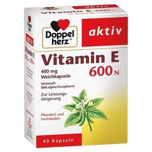 Vitamin E thiên nhiên 600N Doppel Herz của Đức 40 viên