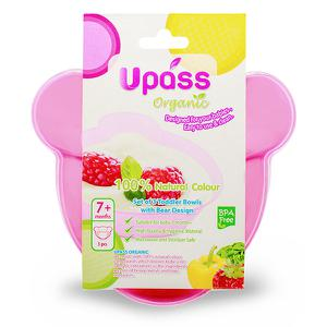 Bộ 3 bát Upass hữu cơ hình gấu UP5182O