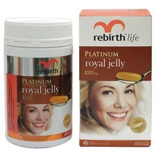 Sữa ong chúa Rebirth Platinum 1000mg hộp 60 viên