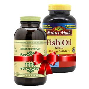 Combo Tảo Xoắn Spirulina, Dầu Cá Nature Made Fish Oil Omega 3 1200mg