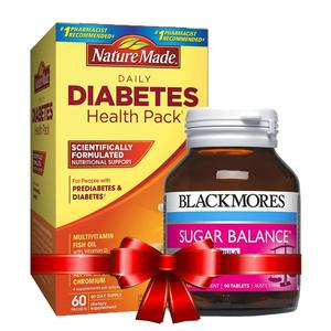 Combo Blackmores Sugar Balance và Diabetes Health Pack Nature Made