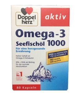 Dầu cá Đức Omega 3 Doppelherz  seefischol 1000mg + vitamin E 80 viên