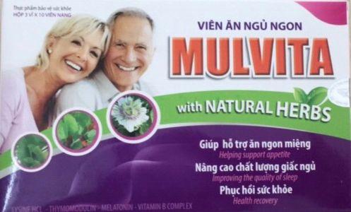 Viên ăn ngủ ngon Mulvita with Naturel Herbs - Hoàng Liên