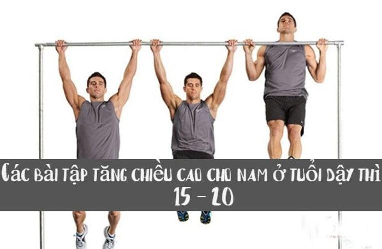 Các bài tập tăng chiều cao cho nam ở tuổi dậy thì từ 15 - 20