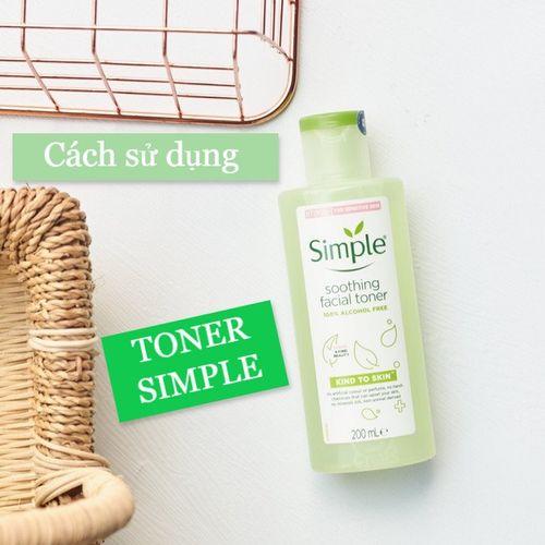 Cách sử dụng toner Simple Kind To Skin Soothing Facial đúng chuẩn