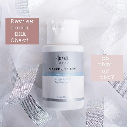 Review BHA Obagi Giảm Mụn, Giảm Nhờn Clenziderm MD Pore Therapy 2%