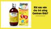 Khi nào nên cho trẻ uống Siro Centrum kids?