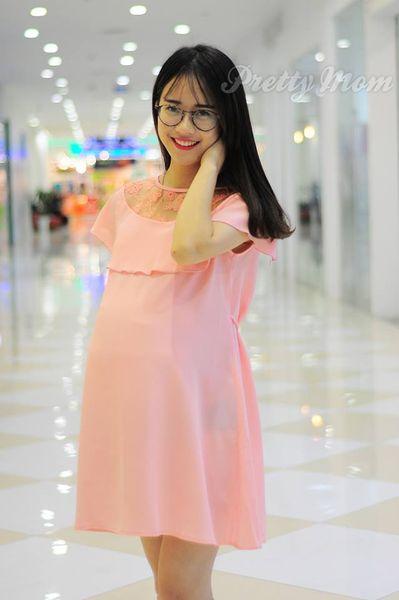 Đầm Bầu Pretty Mom V01 Màu Hồng