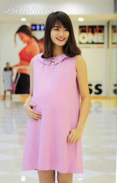 Đầm Bầu Pretty Mom V03 Màu Hồng