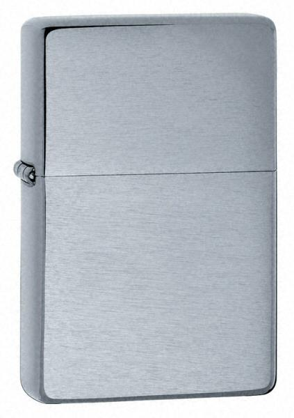 Bật Lửa Zippo Vintage Brushed Chrome Lighter Without Slashes 230.25