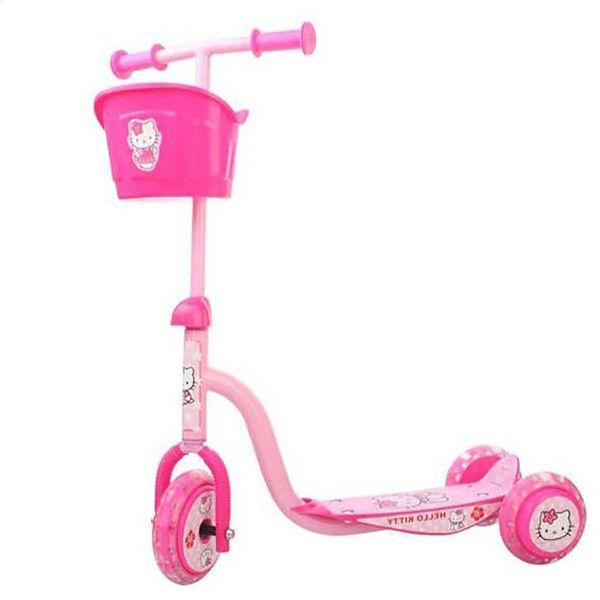 Xe Trượt Scooter 3 Bánh Hello Kitty Có Giỏ
