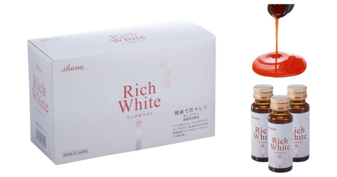 Nước Uống Trắng Da Collagen Rich White Ihana Nhật Bản