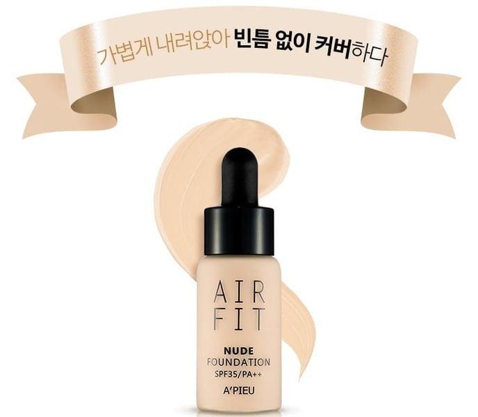 Kem Nền Apieu Air Fit Nude Foundation 18g