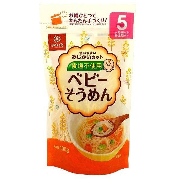 Mỳ Cho Trẻ Từ 5 Tháng Tuổi Hakubaku 100g