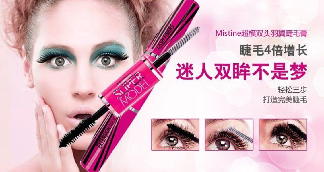 Mascara Mistine Super Model Thiết Kế 2 Đầu Tiện Dụng