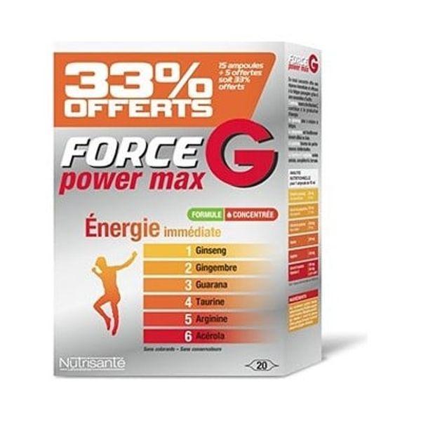 Force G Power Max 20 Ống Phục Hồi Sức Khỏe, Tăng Sức Đề Kháng