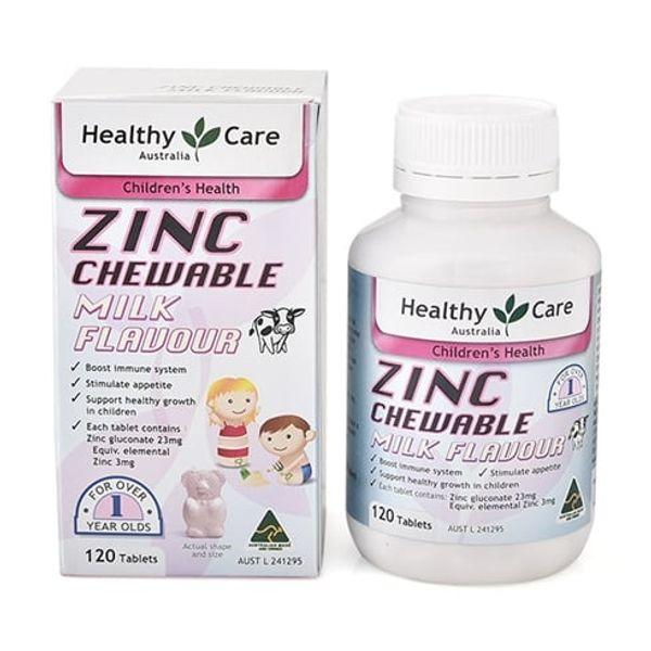 Viên Bổ Sung Kẽm Healthy Care ZinC Cho Bé Của Úc