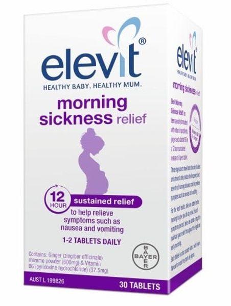 Viên Uống Giảm Ốm Nghén Elevit Morning Sickness Relief 30 Viên