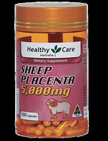 Nhau Thai Cừu Sheep Placenta Healthy Care 5000mg 100 Viên Của Úc