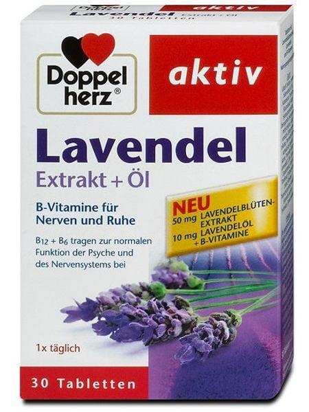 Viên Hoa Oải Hương Doppelherz Aktiv Lavendel Extrakt + Öl
