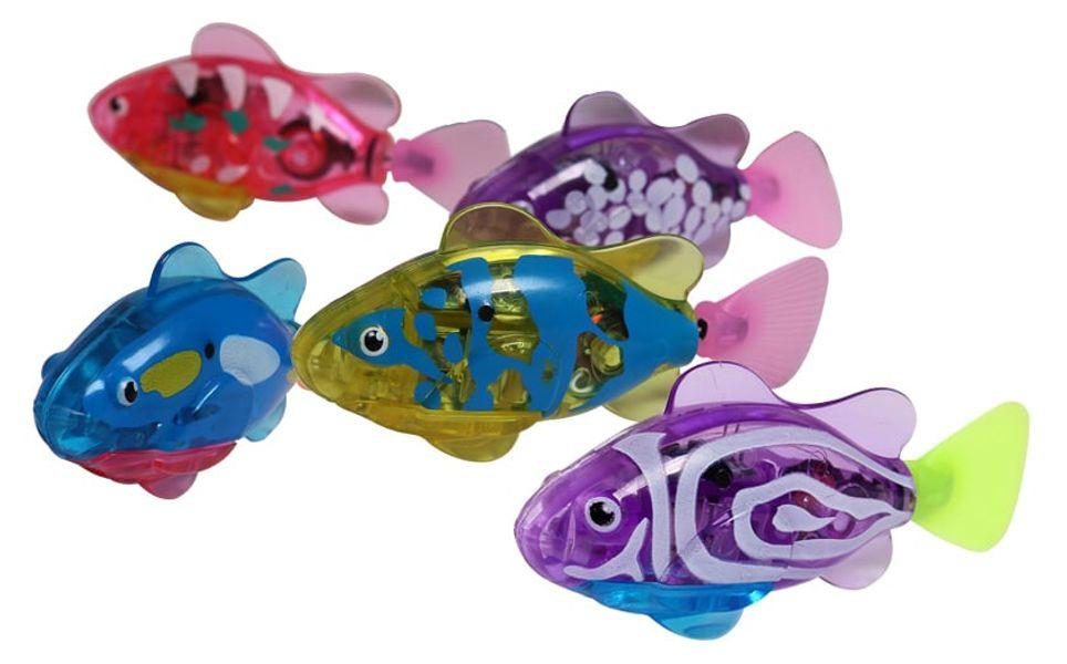 Combo 5 Cá Điện Tử Robo Fish Đèn Led Cho Bé