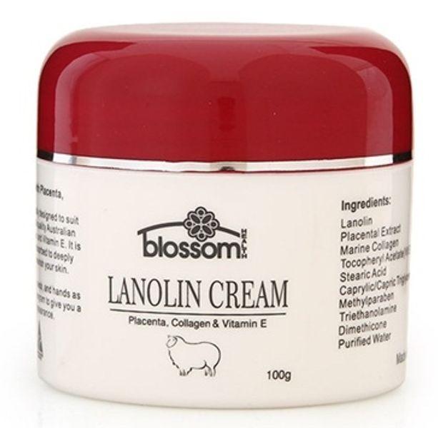 Kem Nhau Thai Cừu Blossom Lanolin Collagen & Vitamin E