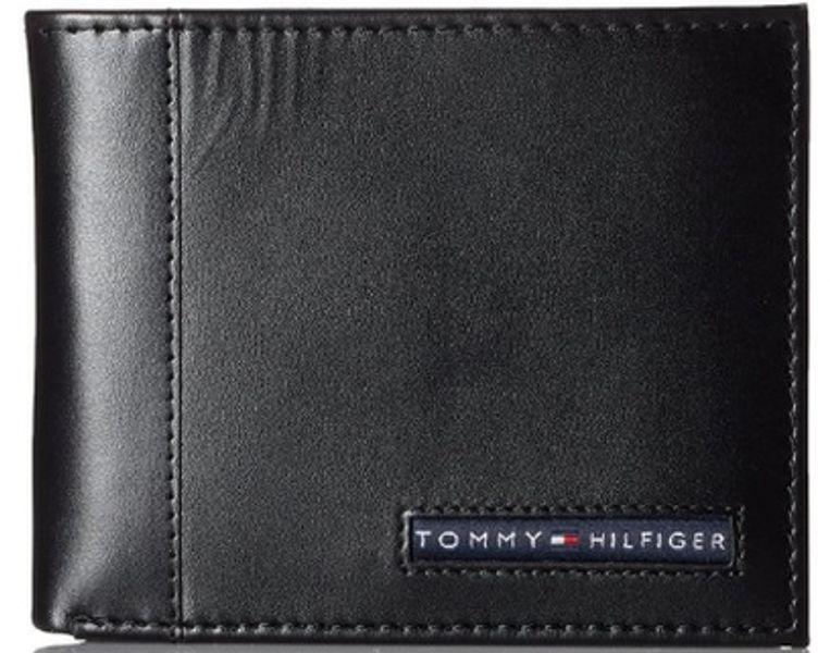 Ví Da Nam Tommy Hilfiger Men's Cambridge Passcase Màu Đen