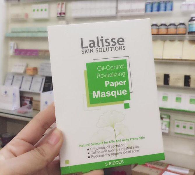 Mặt Nạ Kiềm Dầu Trị Mụn Lalisse Oil-control Revitalizing Paper Masque