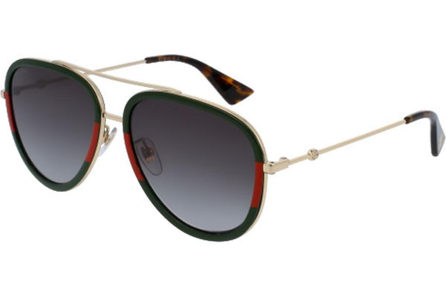 Kính Mắt Gucci GG0062S 003 Green Red Gold