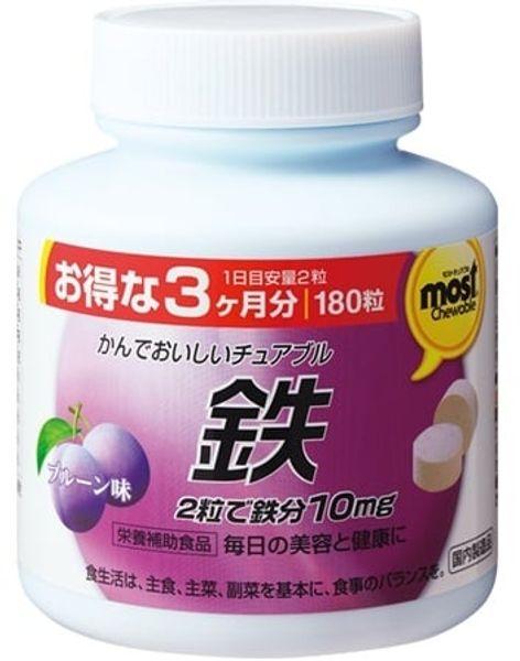 Viên Sắt Acid Folic Orihiro Most Chewable Iron Nhật Bản