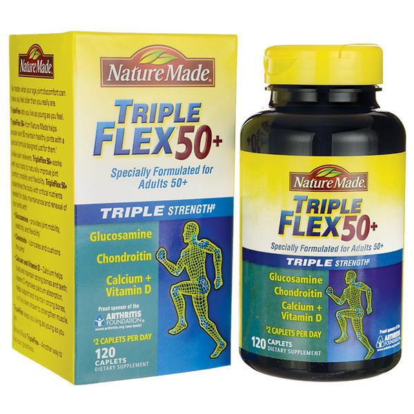 Triple Flex 50+ Nature Made - Viên Uống Hỗ Trợ Điều Trị Xương Khớp