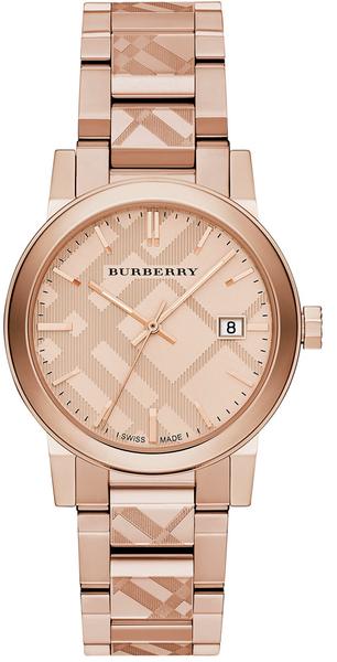 Đồng Hồ Burberry Unisex BU9039 Rose Gold Khắc Vân Chìm