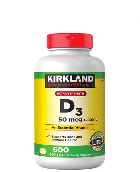 Vitamin D3 2000IU Kirkland - Vitamin Mặt Trời