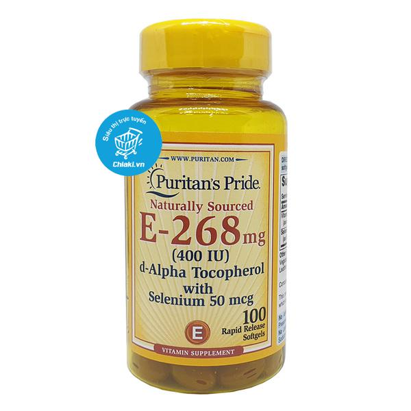 Viên Uống Vitamin E 268mg With Selenium Puritan's Pride