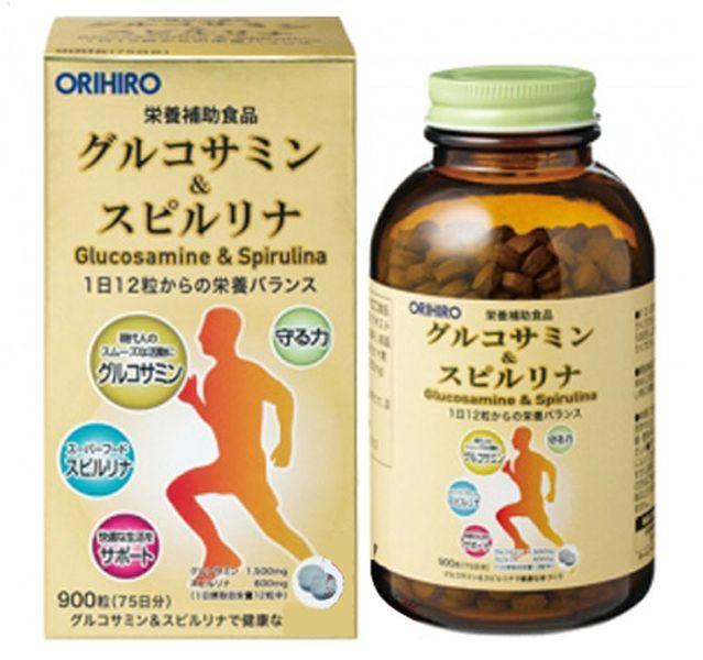 Tảo Glucosamine & Spirulina Orihiro Nhật Bản 900 Viên