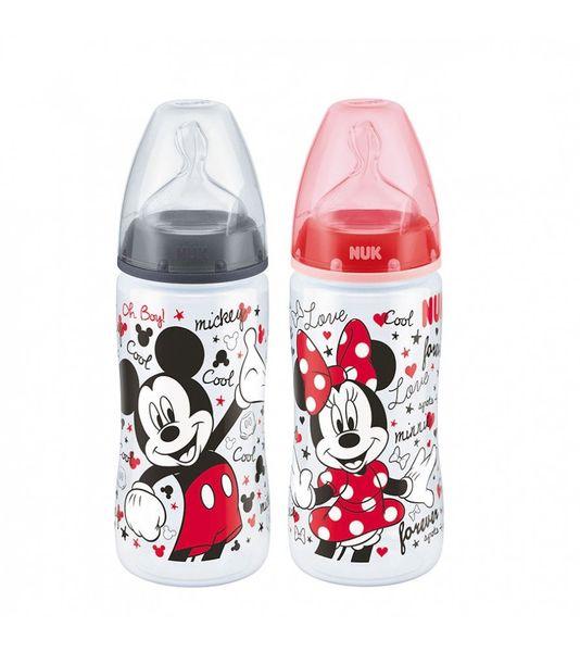 Bình Sữa NuK PP Mickey Núm Ti Silicone S2 Cho Bé