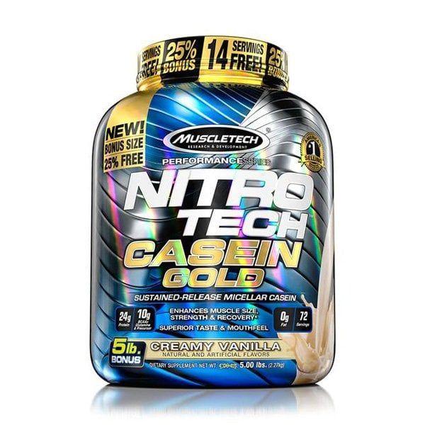 Sữa Tăng Cơ Ban Đêm NitroTech Casein Gold