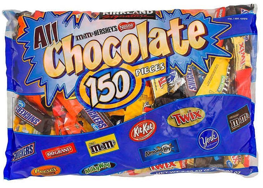 Kẹo Socola Tổng Hợp 9 Loại Túi 150 Viên Của Kirkland Mỹ