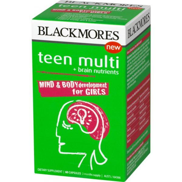 Viên Uống Hỗ Trợ Não Bộ Và Trí Nhớ Blackmores Teen Multi For Girls