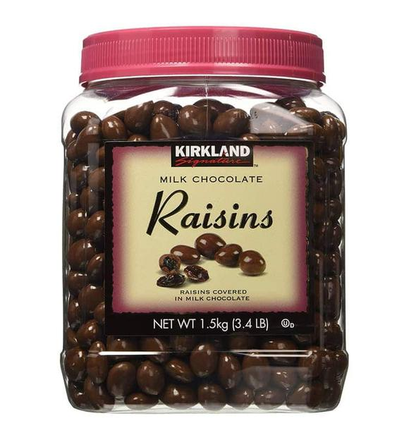 Kẹo Chocolate Milk Raisins Bọc Nhân Nho Kirkland Hộp 1.53kg