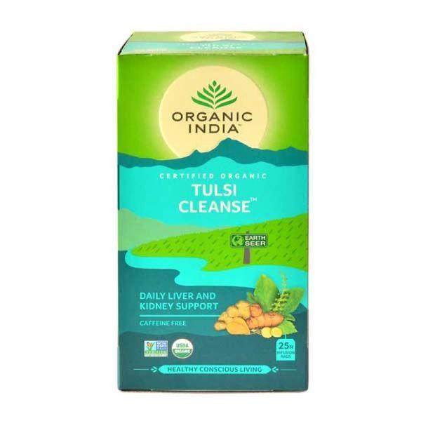 Trà Thảo Mộc Organic India Tulsi Cleanse Hỗ Trợ Thải Độc