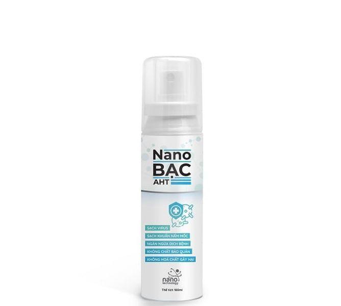 Chai Xịt Nano Bạc AHT Làm Sạch Khuẩn Virus 100ml