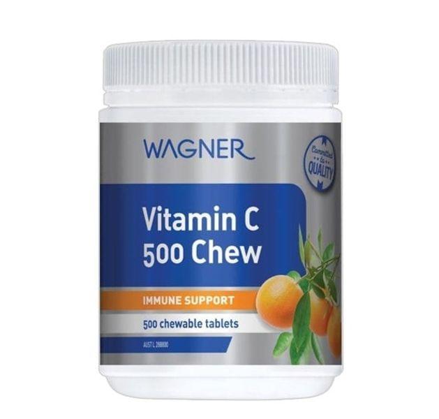 Viên Nhai Bổ Sung Vitamin C 500 Chew Wagner