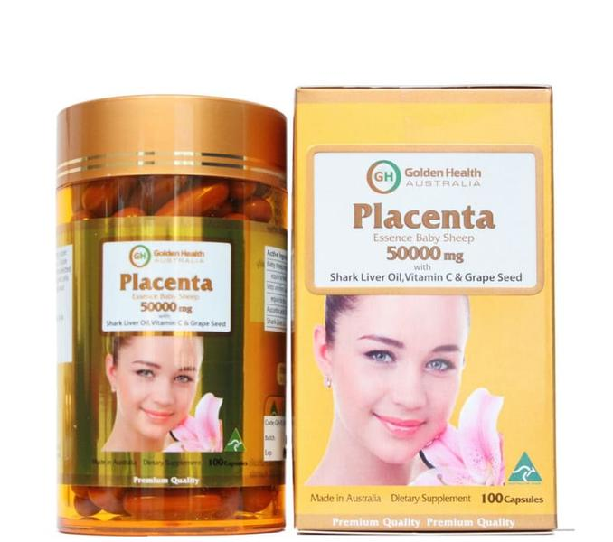 Viên Uống Nhau Thai Cừu Golden Health Placenta 50000mg