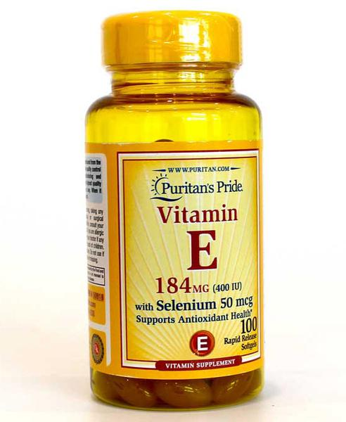 Viên Uống Vitamin E 400IU Và 50 Mcg Selen Puritan's Pride