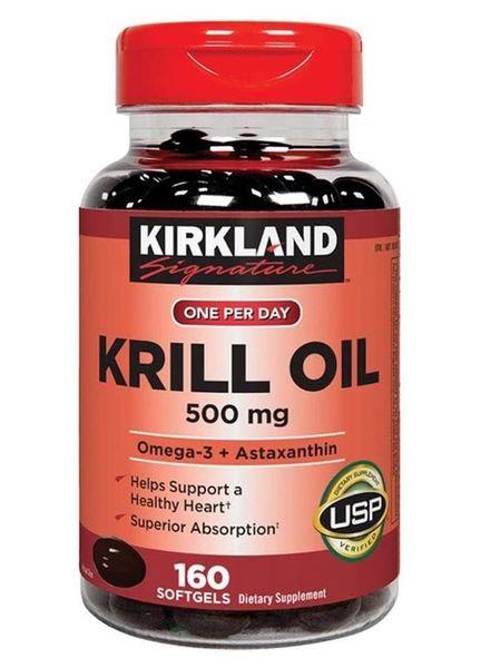 Viên Uống Dầu Tôm Kirkland Signature Krill Oil 500mg